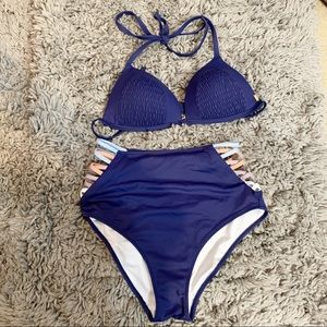 blue Victoria's Secret/pink  bathing suit size M